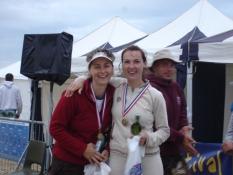 Winning couple in Sandbanks, Vanda & Anastasia