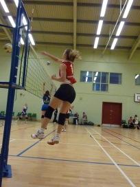 Vicky hitting