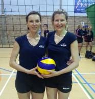 Anastasia Antipina & Marcela Bletzer from NVL Div 1 ladies team took third place in Brighton!
