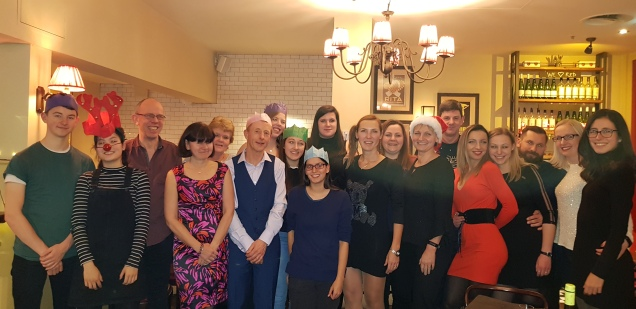 Reading Aces Christmas meal 2018